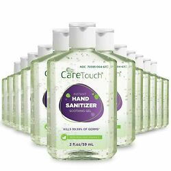 Instant Hand Sanitizer Gel with Vitamin E and Aloe Vera 12-Pack 2oz $22.99