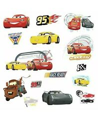 Cars 3 Disney RoomMates Vinyl Wall Bedroom 15 Removable Decal Stickers $12.00