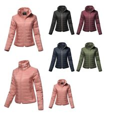 FashionOutfit Women#x27;s Solid Warm Faux Fur Lining Quilted Puffer Winter Jacket $21.44