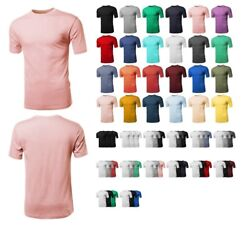 FashionOutfit Men#x27;s Casual Basic Solid Cotton Short Sleeve Crew Neck Tee $7.99 $5.59