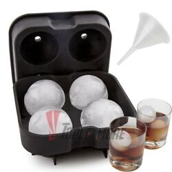 Silicone ICE Ball Maker Round Sphere Tray Cube Mold For Whiskey Cocktails Party $6.99