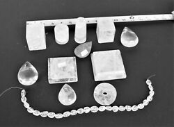 Rock Crystal Parts misc shapes .Lamp parts spacers Brazil Clear Crystal $25.00