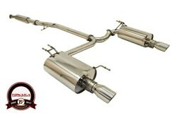 Yonaka Acura TSX 2004 2008 Stainless Steel Polished Dual Catback Exhaust CL9 K24 $449.00