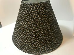 Black and Beige Floral Bell Shaped Fabric Lamp Shade Spider Fitter $12.99