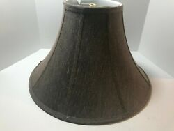 Brown Heather Deluxe Bell Shaped Fabric Lamp Shade Spider Fitter NICE $11.99