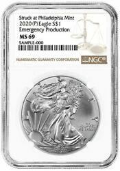 2020(P) Emergency Production American Silver Eagle - NGC MS69 $69.99