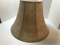 Nice Beige Marbleized Print Deluxe Bell Shaped Fabric Lamp Shade Spider Fitter $17.99