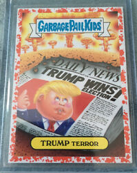 Garbage Pail Kids TRUMP TERROR 3699 Adam-Geddon Bloody Nose Red border Gpk $150.00
