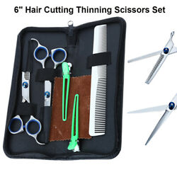 6 inch Salon Hair Cutting Kit Thinning Scissors Barber Shears Hairdressing Set $14.99