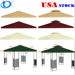 Gazebo Canopy Top Replacement 1~2 Tier Patio Outdoor Sunshade Cover  US $38.89