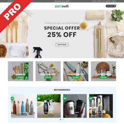 ZERO WASTE STORE  Dropshipping Business  Premium Ecommerce Website For Sale $129.00