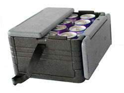FLIP BOX Grey/Black MINI Insulated Box Holds 12 Cans Foldable Cooler on SALE! $14.95