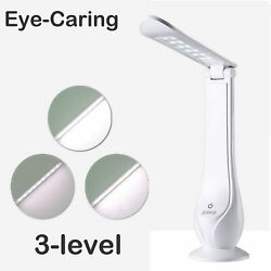 Eye Caring Desk Lamp 3Level Dimmer Foldable LED Light Touch Control Rechargeable $6.22
