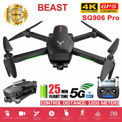 Beast SG906 PRO Brushless Drone w/ 4K Camera 5G WIFI 2axis Gimbal GPS Quadcopter $162.63
