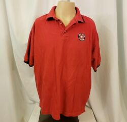 wings VTG 90 XL polo shirt red short sleeve pique south beach lifeguard comfort $16.50