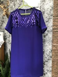 Ladies Stunning Purple Cocktail Dress Size 16 From The Collection At Debenhams $10.01