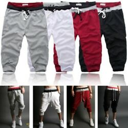 Summer Men's 34 Knee Casual Jogger Sports Baggy Gym Shorts Asia Size S-2XL $11.99