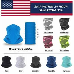 COOLING┃Neck Gaiter┃Neck Gaiter With Filter┃Face Cover Mask┃Bandana Scarf (2Pcs) $19.99