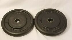 2 York Barbell 10lb Weight Plates $50.00