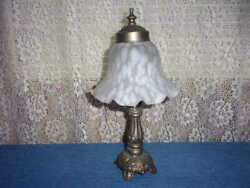 Romantic Boudoir Bedroom Lamp With Frosted Glass Shade $29.99