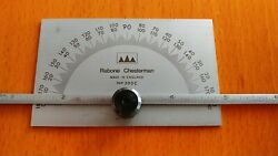 RABONE CHESTERMAN 0 TO 180° ANGLE PROTRACTOR WITH 0