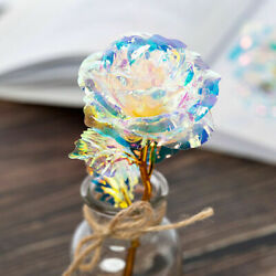 24K Gold Foil Rose Flower LED Luminous Galaxy Mother#x27;s Day Valentine#x27;s Day Gift $3.69
