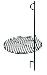 Open Fire Pit Charcoal Wood Burning BBQ Grill wHeight Adjustable Cooking Grate