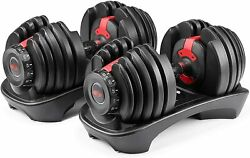 BOWFLEX SelectTech 552 Two Adjustable Dumbbells Pair Fast Shipping NEW SEALED $549.99