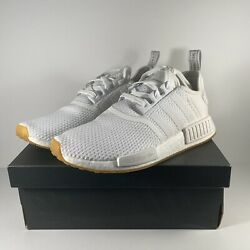 adidas Men's NMD R1 Cloud White Gum BRAND NEW White Sneakers D96635 Multi size $102.00