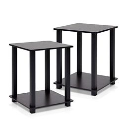 Nightstand Set Of 2 End Table French EspressoBlack Bedroom Living Room Furnitur $37.71