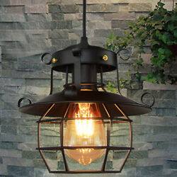 Industrial Vintage Metal Cage Fixture Ceiling Pendant Light Hanging Lamp Shade $17.60