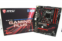 Brand new Retailbox MSI Motherboard H370 GAMING PLUS DDR4 LGA1151 ATX M.2 8700K $173.14