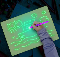Draw With Light Kids Developing Toy Fun Drawing Board Magic Educational Gift Set $4.17