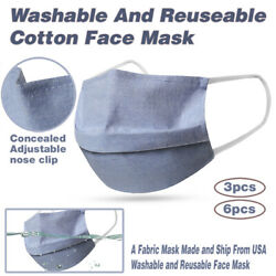US seller Washable And Reusable Cotton Face Mask Denim Grey Fashionable Mask $9.00