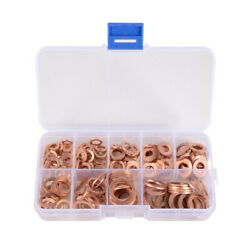 Solid Copper Washers Sump Plug Seal Set Assorted Kit with Box $11.62