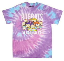 Nickelodeon Rugrats Squad Adult Unisex Purple And Blue Tie Dye T Shirt New $17.99