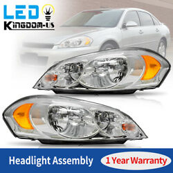 For 2009 Chevy Impala 06 07 Monte Carlo Chrome Housing Headlights Assembly Pair $79.79