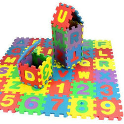 36Pcs Child Baby Number Alphabet Puzzle Foam Maths Educational Toy Gift New USA $6.29