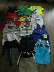 Boys 12 Months Huge Summer Lot of Mixed Clothes Tops Shorts Bodysuits Bibs NWT $49.99