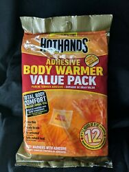 HotHands Body Warmer Adhesive Value Pack 8 Warmers Lasts 12 Hours Large Torso $1.99