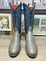 TONY LAMA EXOTIC RARE GRAY WILDEBEEST 10D MENS VINTAGE GOLD LABEL COWBOY BOOTS $249.00