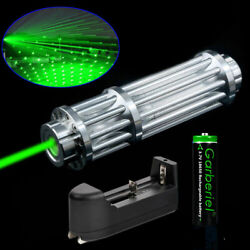 Tactical 532nm Green Laser Pointer Pen Zoom Visible Beam Light 18650 Charger USA $25.99