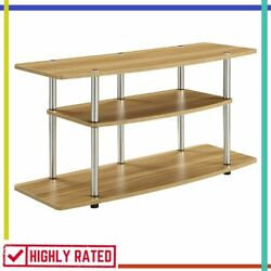 TV STAND Simple Stylish Modern for Living Room Storage Decor CONVENIENCECONCEPTS $96.04
