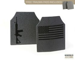 Body Armor AR500 Plates Full Anti Spalling Upgrades 2 Day Ship Free Trauma Pads $129.95