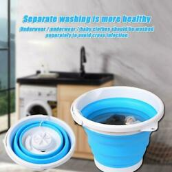 Folding Laundry Tub Basin Mini Washing Machine Automatic Clothes Washing  Bucket $19.09