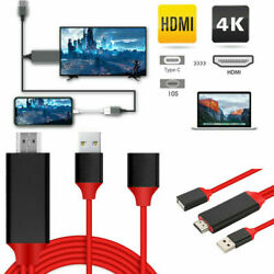 1080P HDMI Mirroring Cable Phone to TV HDTV Adapter For iPhone  iPad Android $11.89