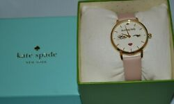 KATE SPADE KSW1210 WOMEN'S METRO LEADING LADY GOLD DIAL WATCH WITHOUT TAG