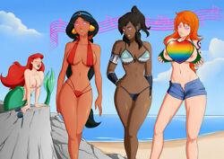 ARIEL JASMINE KORRA amp; NAMI ONE PRIVATE PRINTING PICTURE 4 x 6 inches $4.00