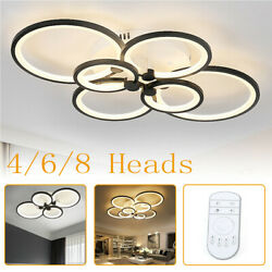 Acrylic Modern LED Ring Lamp Chandelier Ceiling Light Home Light Fixtur Dimmable