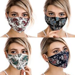 Paisley Design Fashion Face Mask Washable Reusable Adjustable with Filter Pocket $12.99